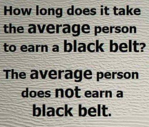 average not black belt